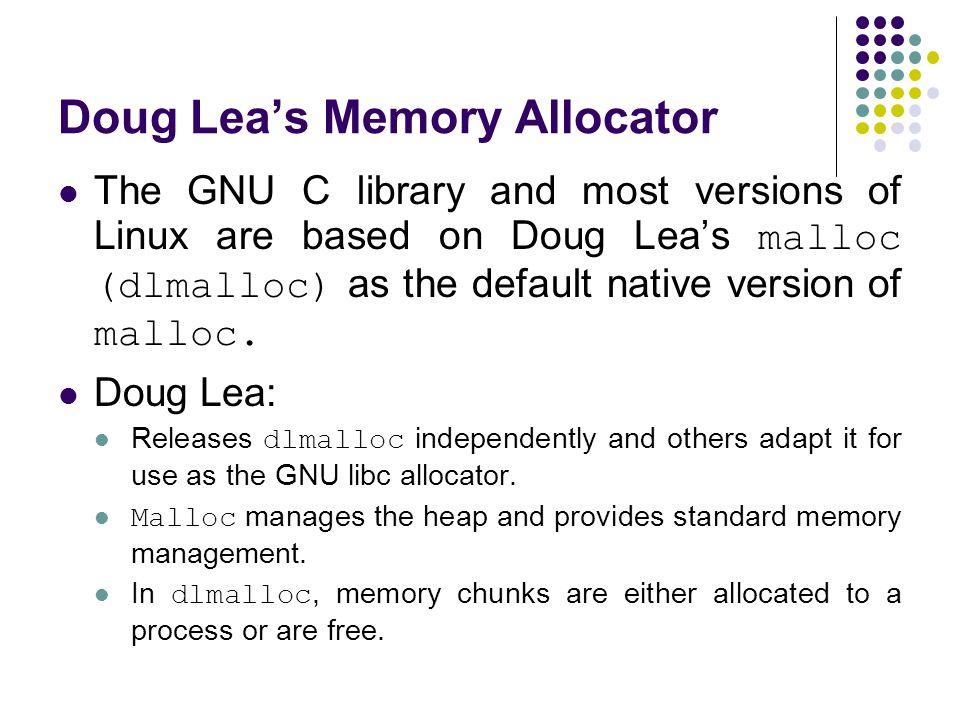 Doug Lea's Memory Allocator