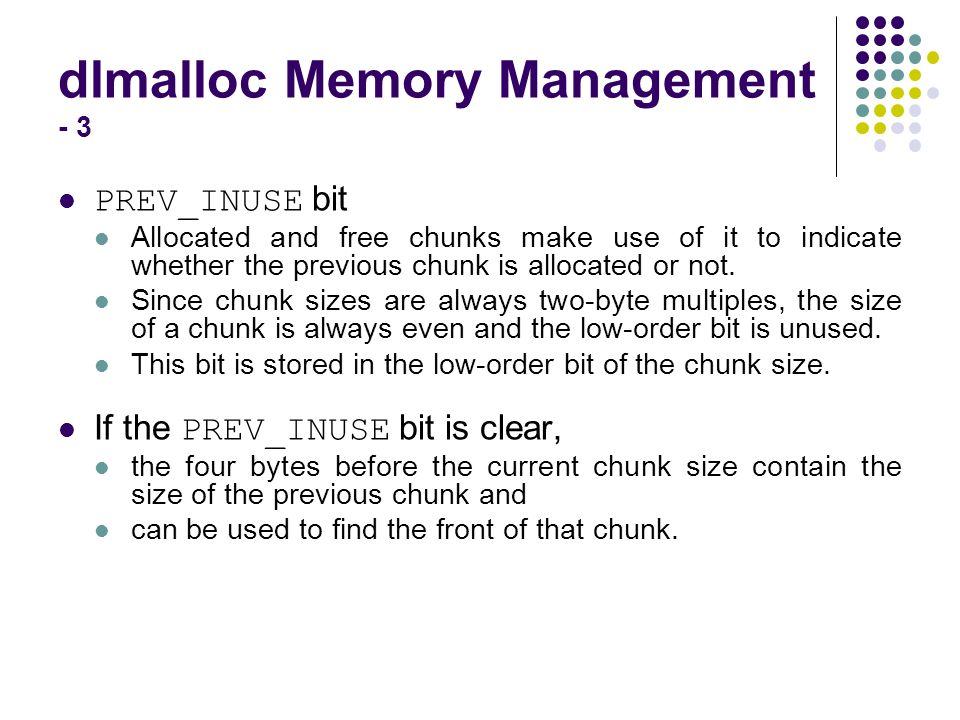 dlmalloc Memory Management - 3