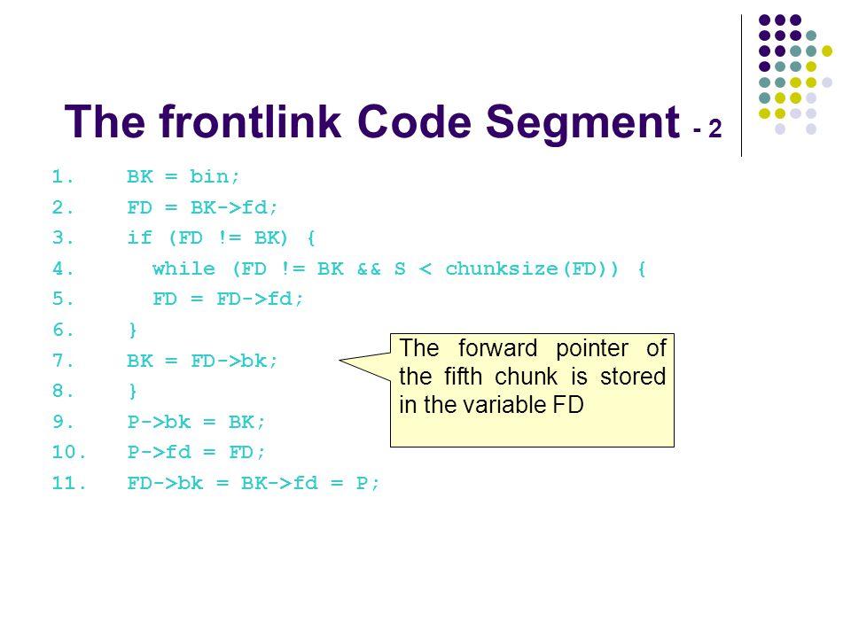 The frontlink Code Segment - 2