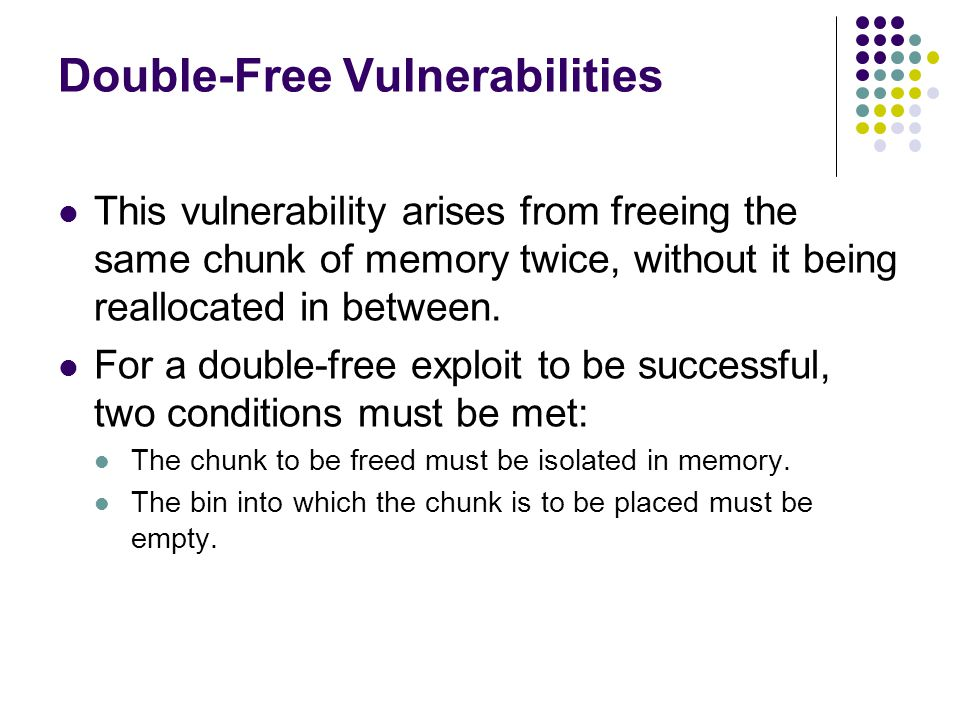 Double-Free Vulnerabilities