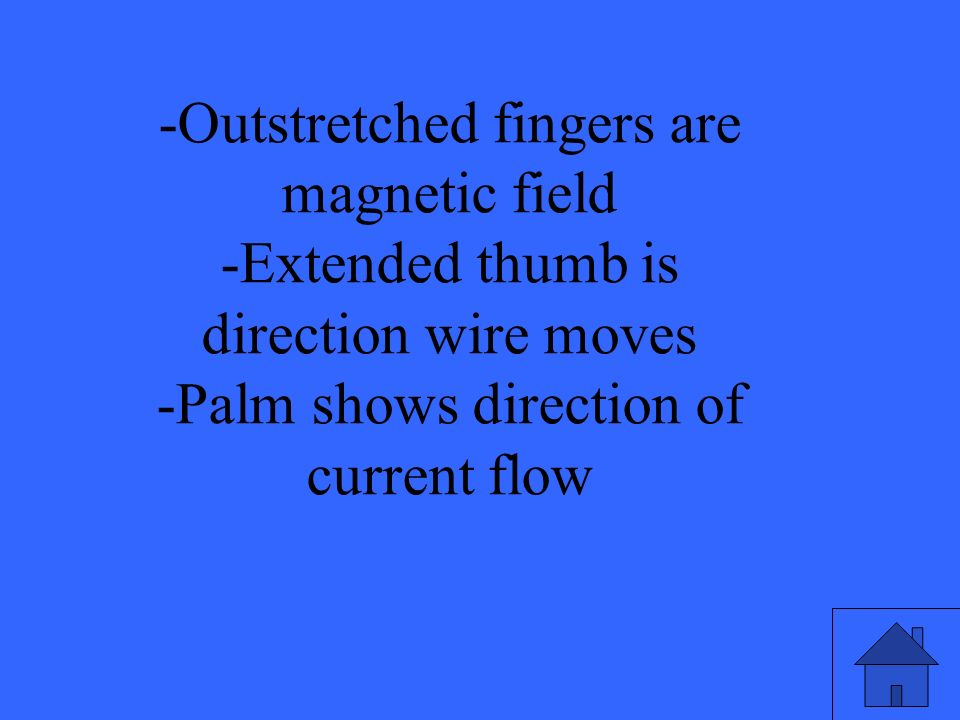 -Outstretched fingers are magnetic field