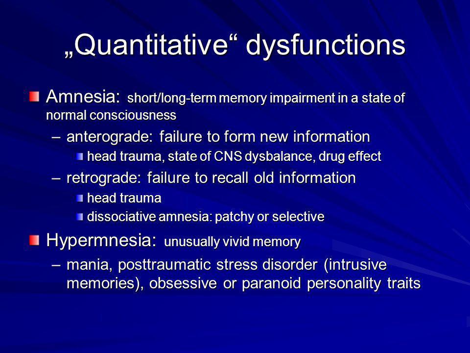 """Quantitative dysfunctions"