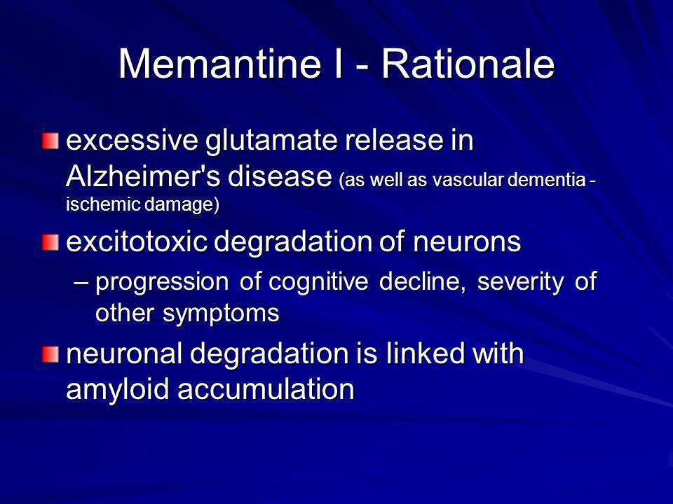 Memantine I - Rationale
