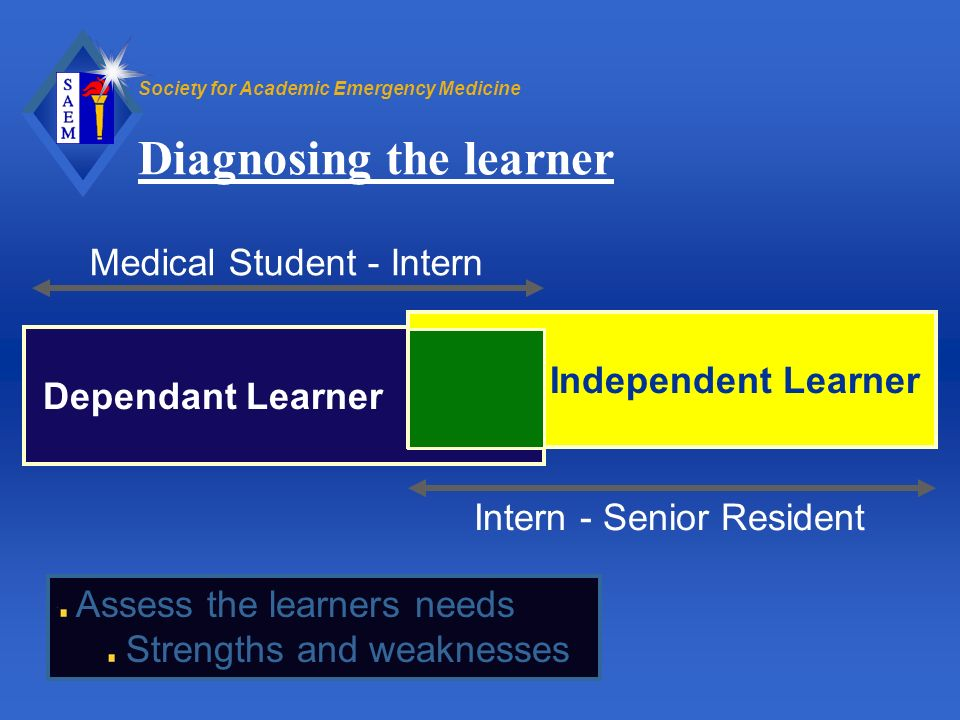 Diagnosing the learner