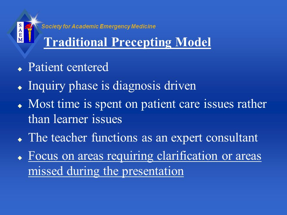 Traditional Precepting Model