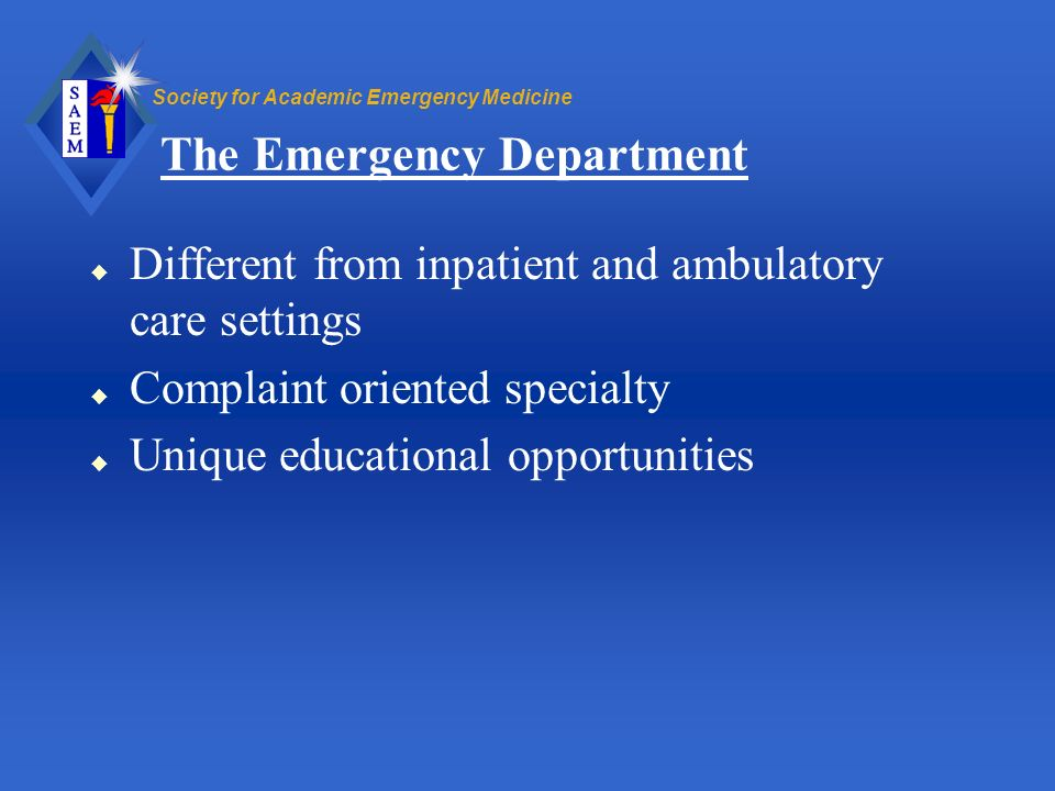 The Emergency Department