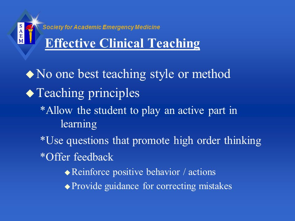 Effective Clinical Teaching