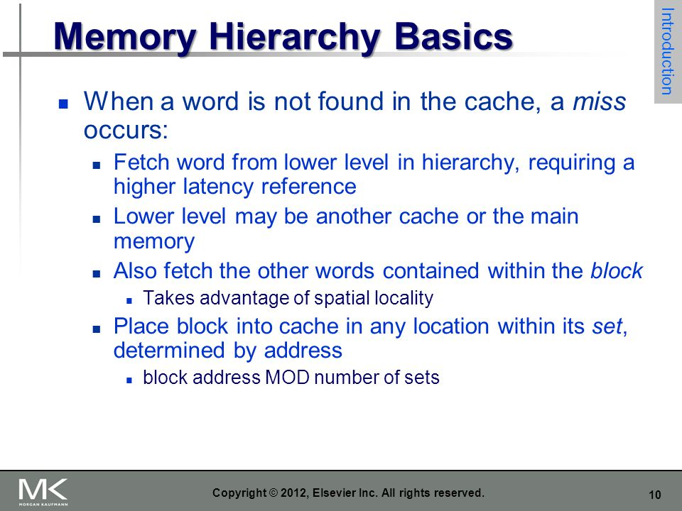 Memory Hierarchy Basics