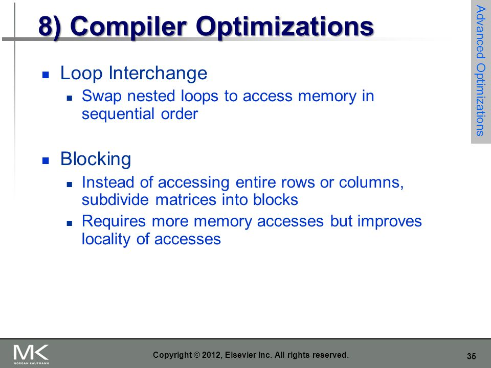 8) Compiler Optimizations