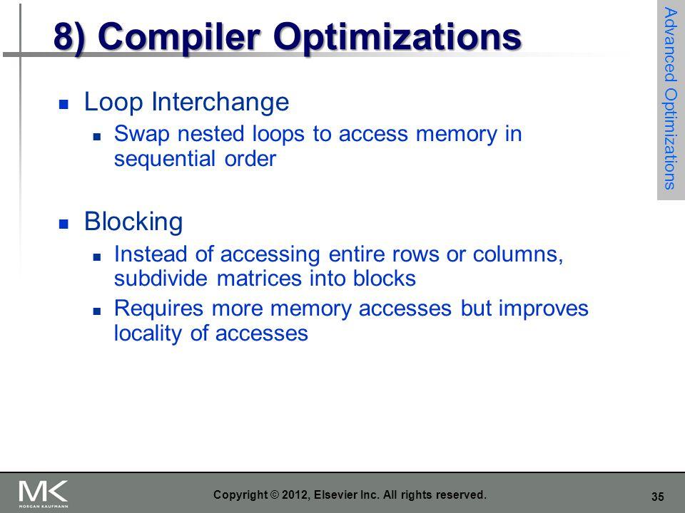 8) Compiler Optimizations