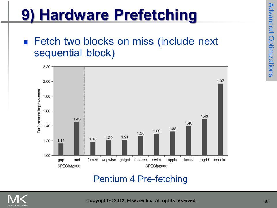 9) Hardware Prefetching