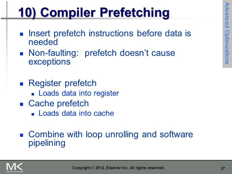 10) Compiler Prefetching