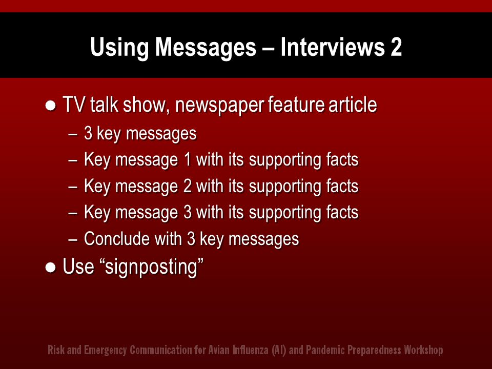 Using Messages – Interviews 2