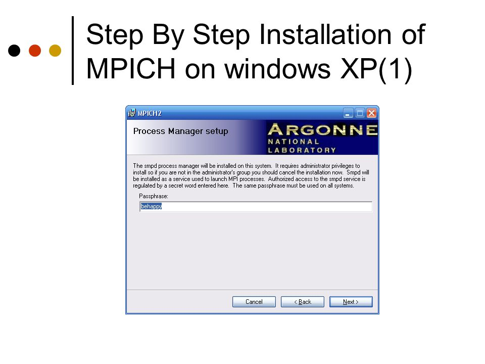 Step By Step Installation of MPICH on windows XP(1)
