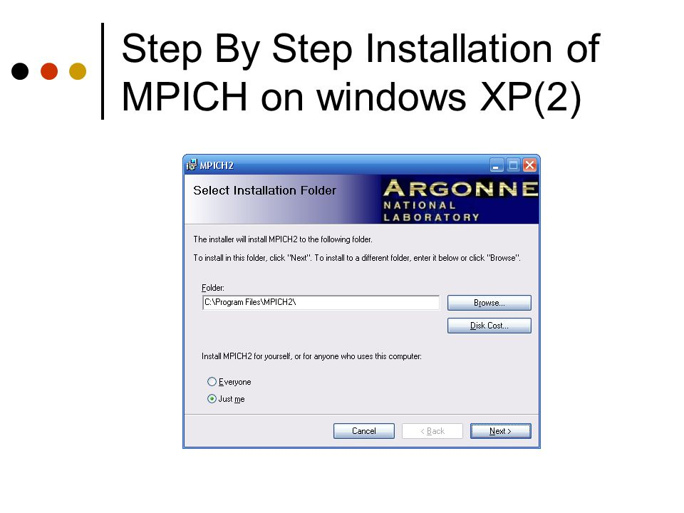 Step By Step Installation of MPICH on windows XP(2)