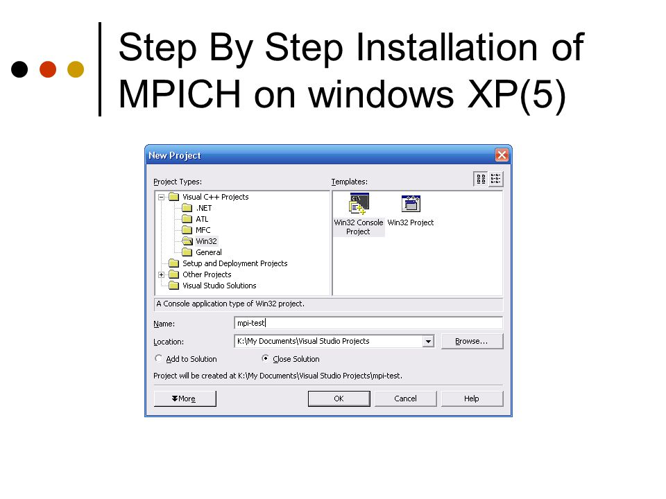 Step By Step Installation of MPICH on windows XP(5)