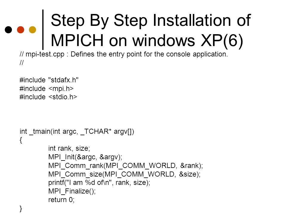 Step By Step Installation of MPICH on windows XP(6)