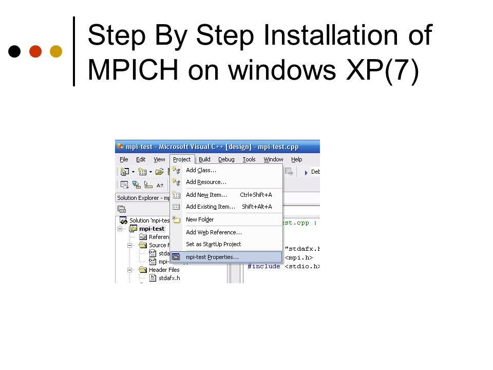 Step By Step Installation of MPICH on windows XP(7)