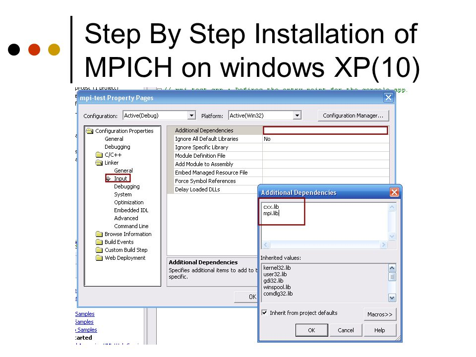 Step By Step Installation of MPICH on windows XP(10)