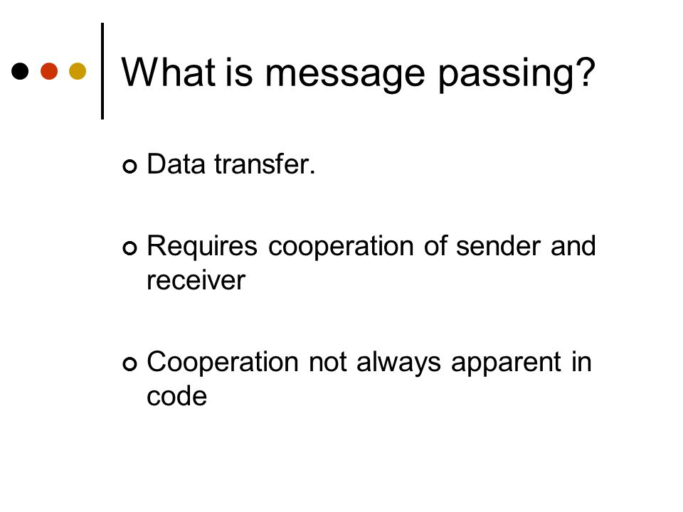 What is message passing