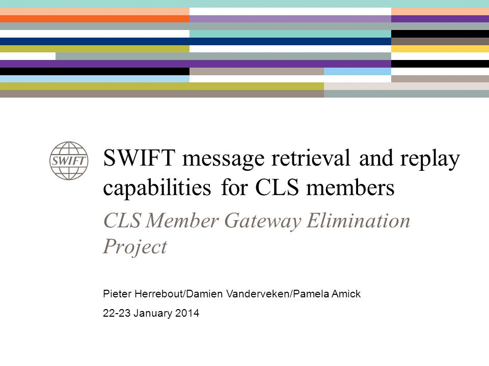 SWIFT message retrieval and replay capabilities for CLS members