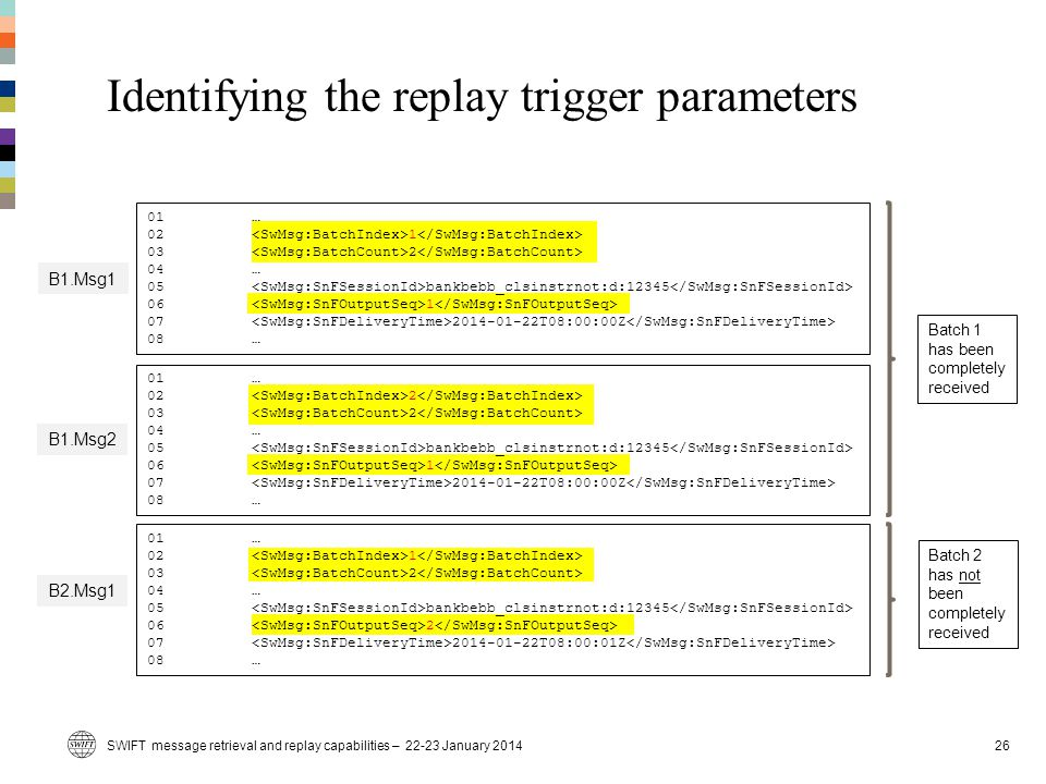 Identifying the replay trigger parameters
