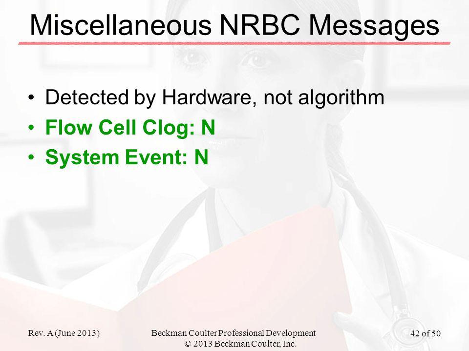 Miscellaneous NRBC Messages