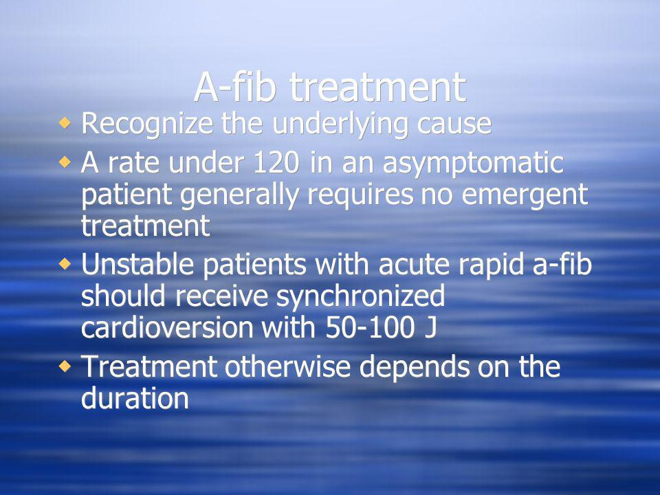 A-fib treatment Recognize the underlying cause