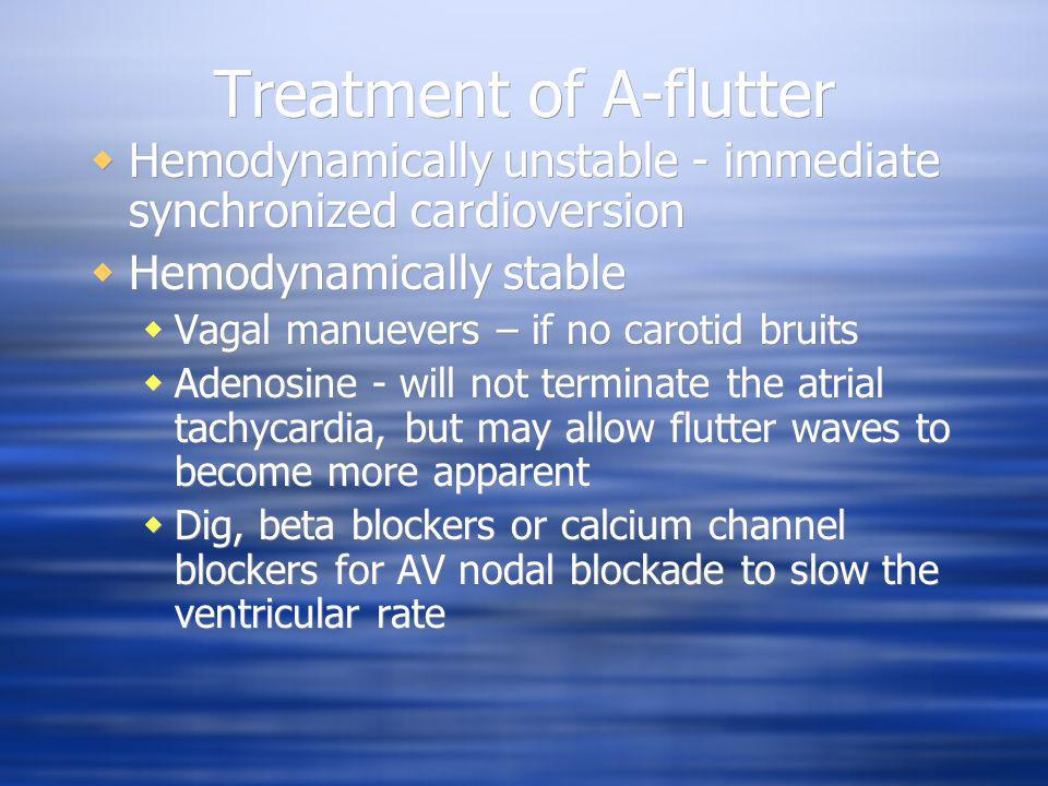 Treatment of A-flutter
