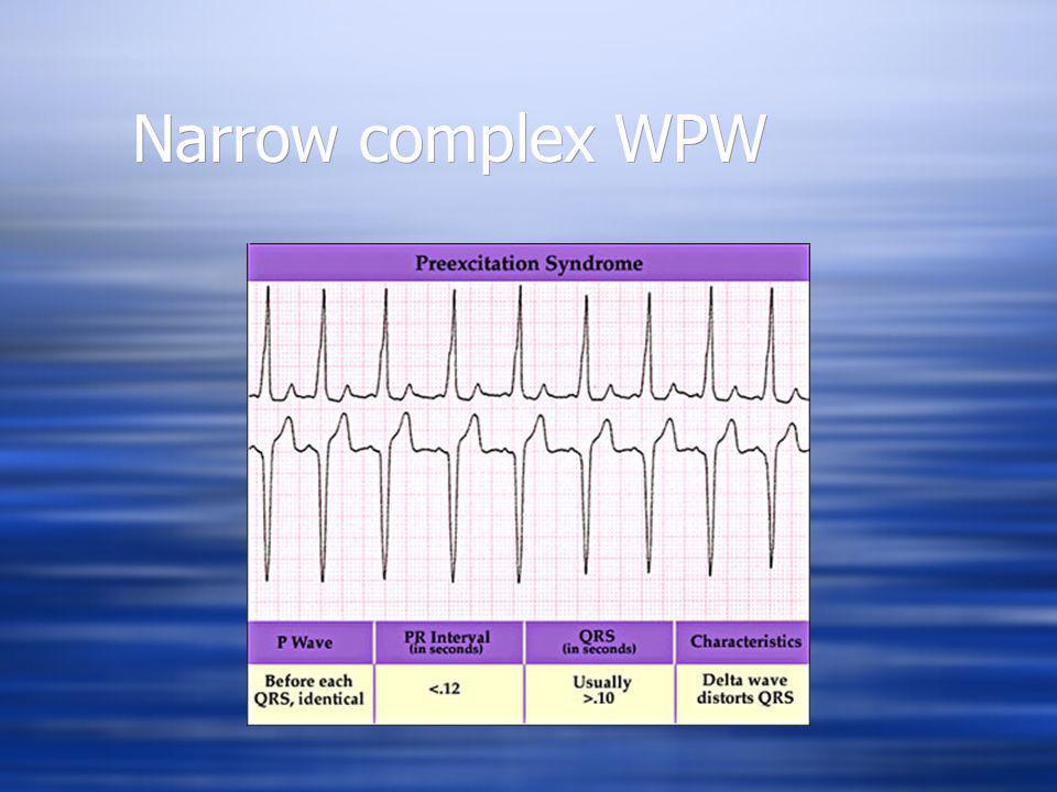 Narrow complex WPW