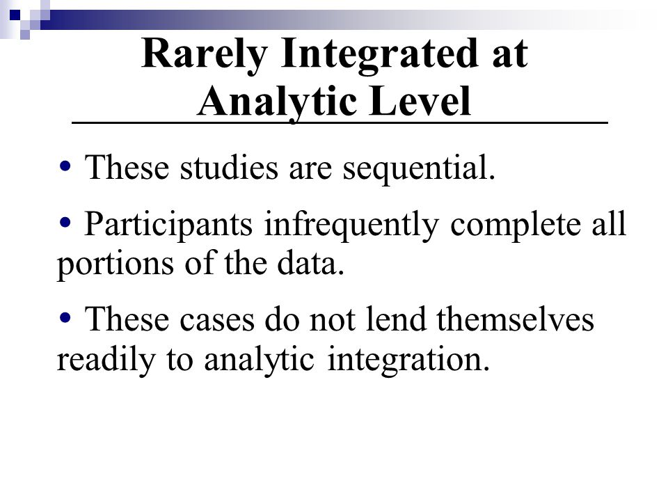Rarely Integrated at Analytic Level