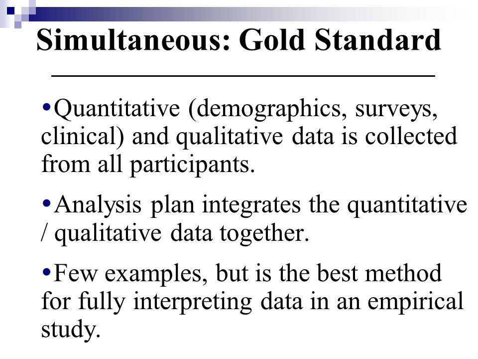 Simultaneous: Gold Standard