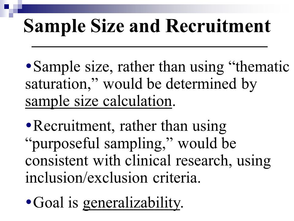 Sample Size and Recruitment