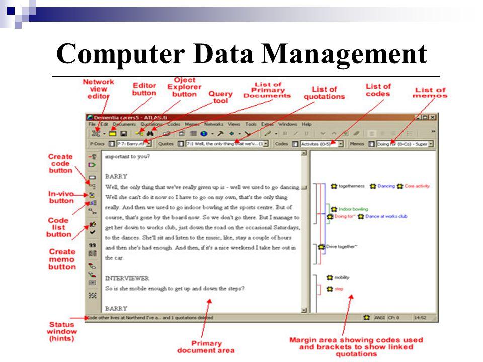 Computer Data Management