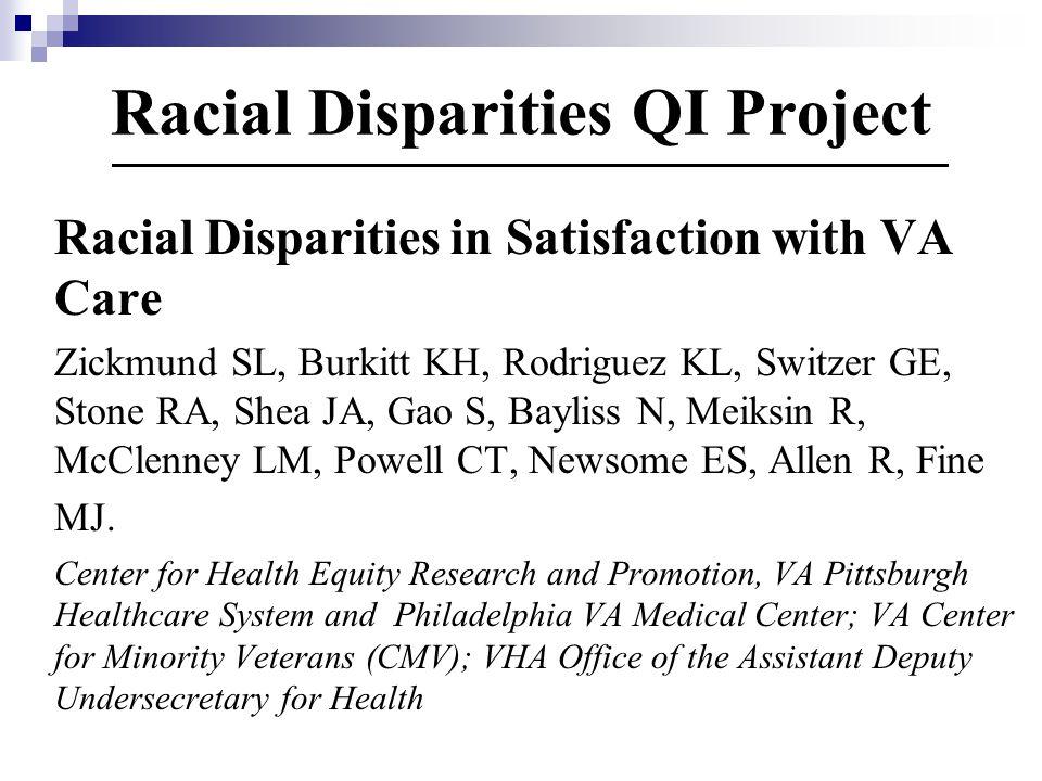 Racial Disparities QI Project