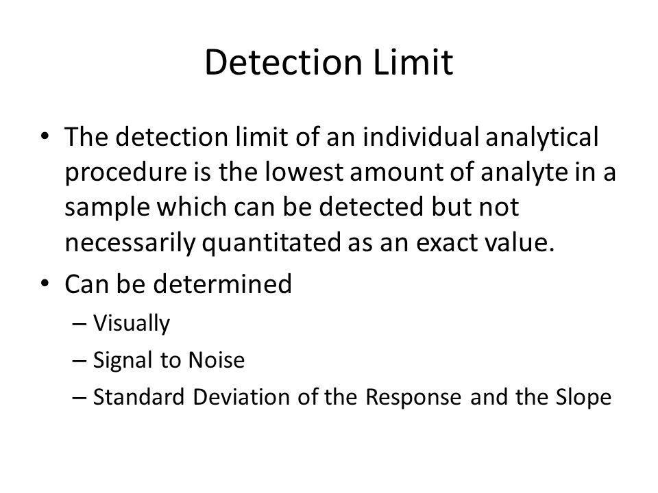Detection Limit