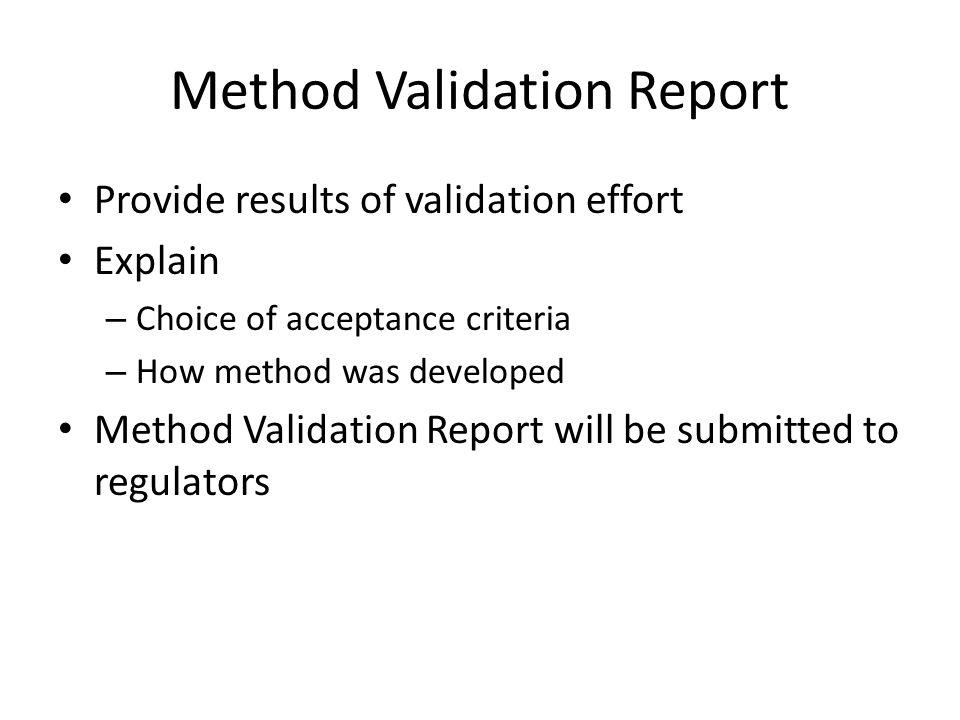 Method Validation Report