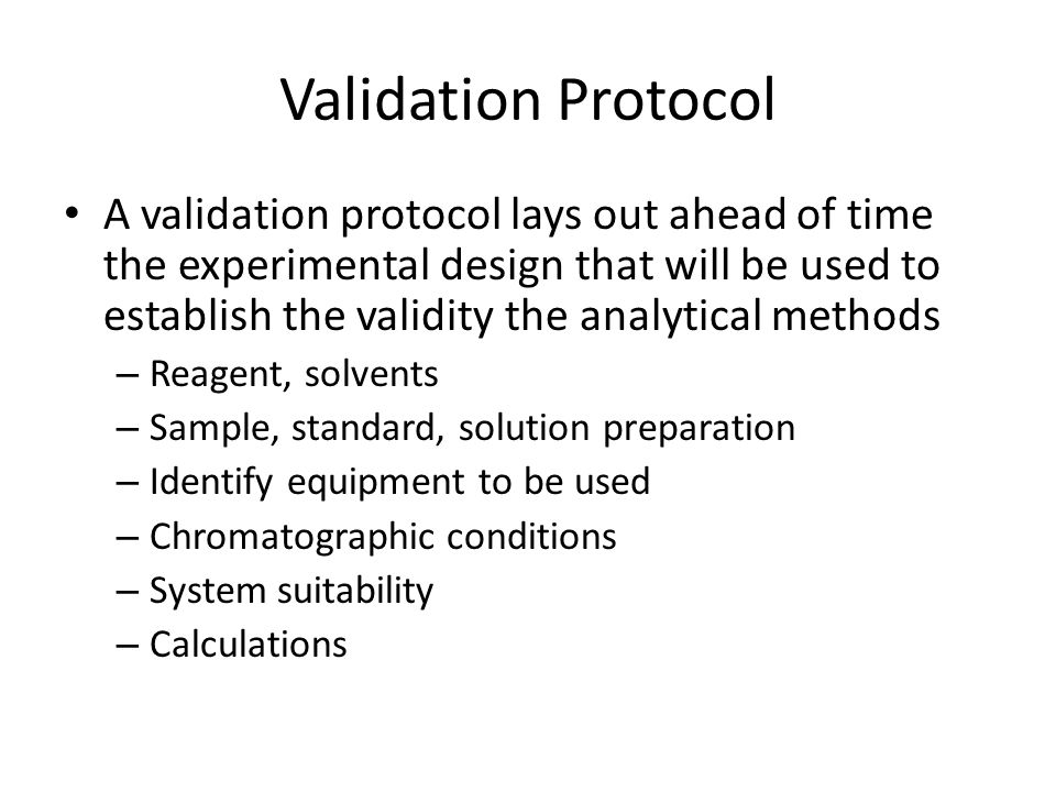 Validation Protocol