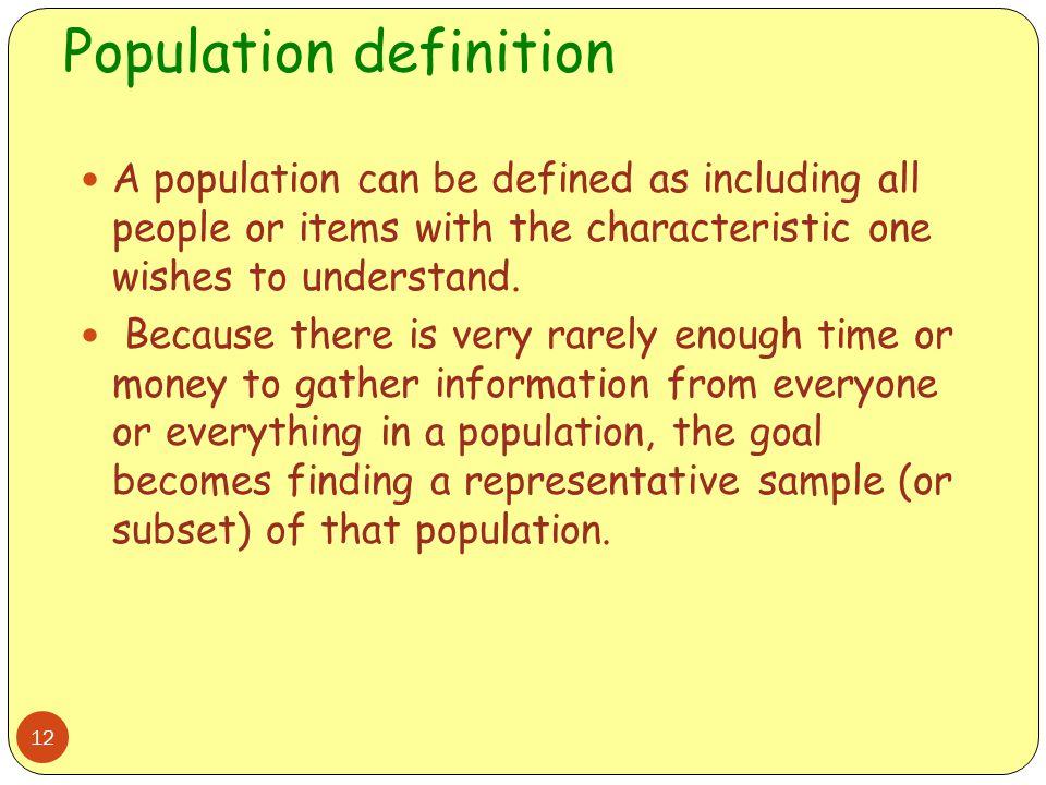 Population definition