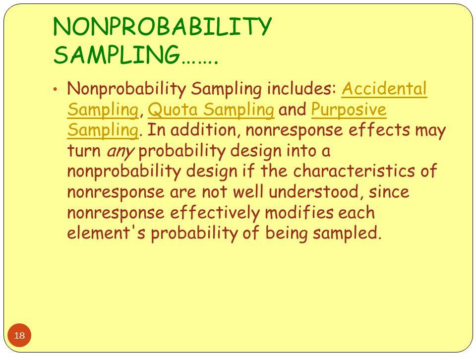 NONPROBABILITY SAMPLING…….