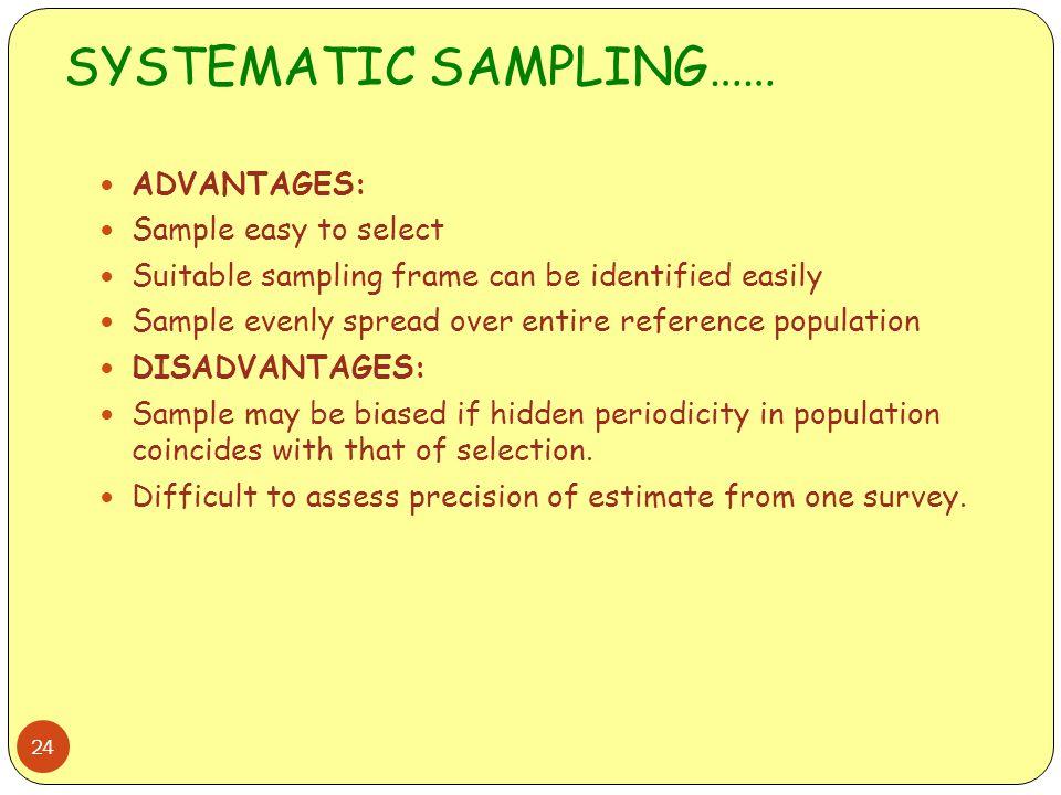 SYSTEMATIC SAMPLING……
