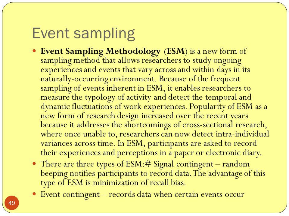 Event sampling