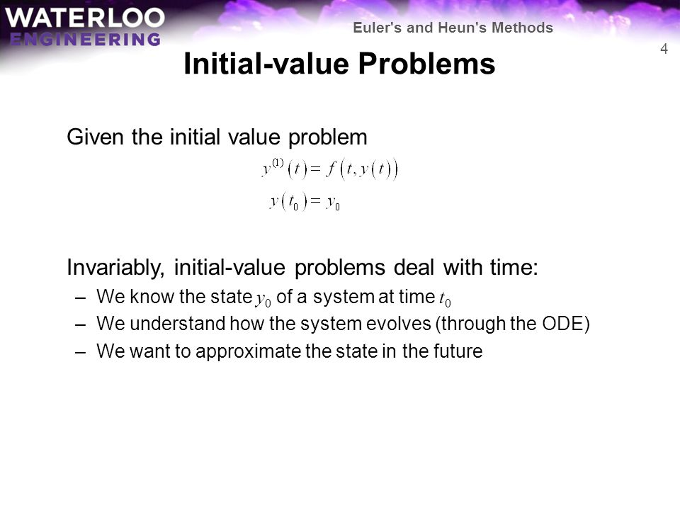 Initial-value Problems