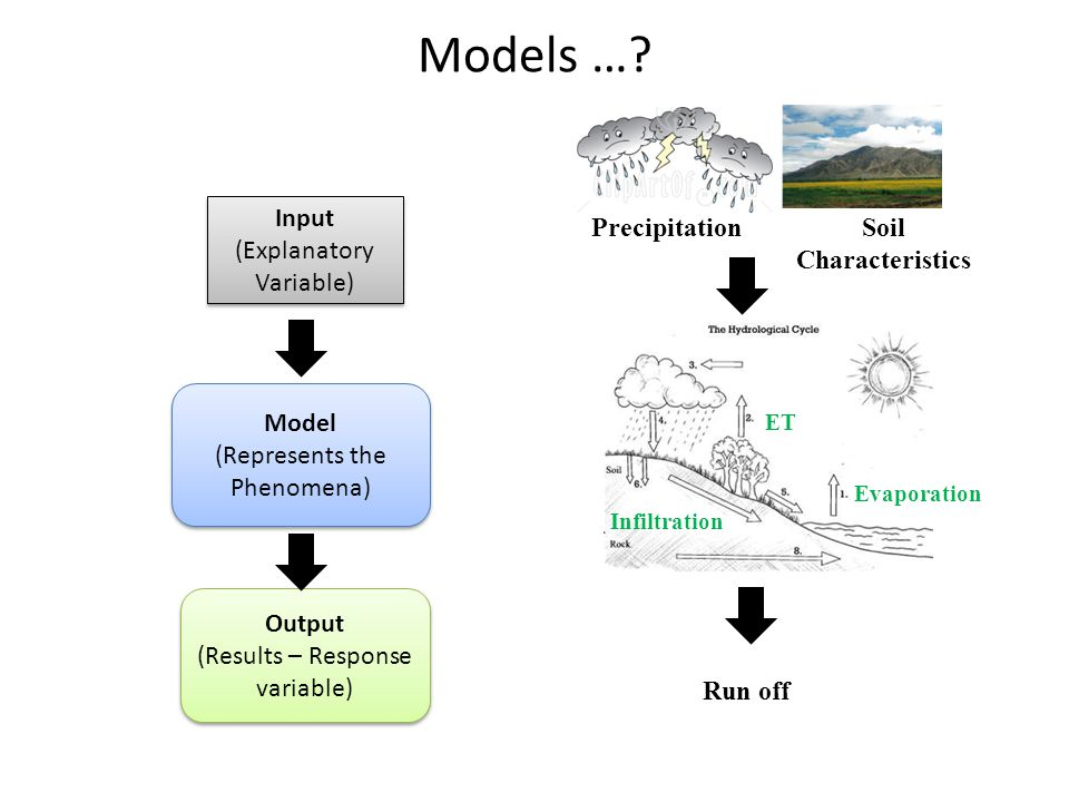 Models … Input (Explanatory Variable) Precipitation