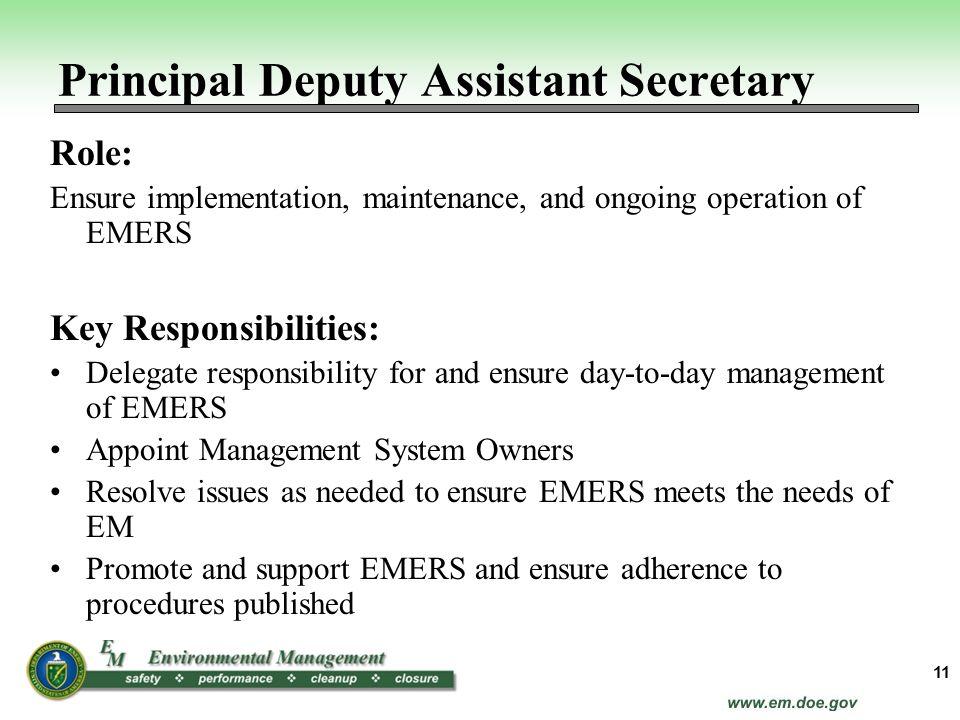 Principal Deputy Assistant Secretary