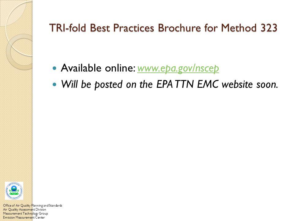 TRI-fold Best Practices Brochure for Method 323
