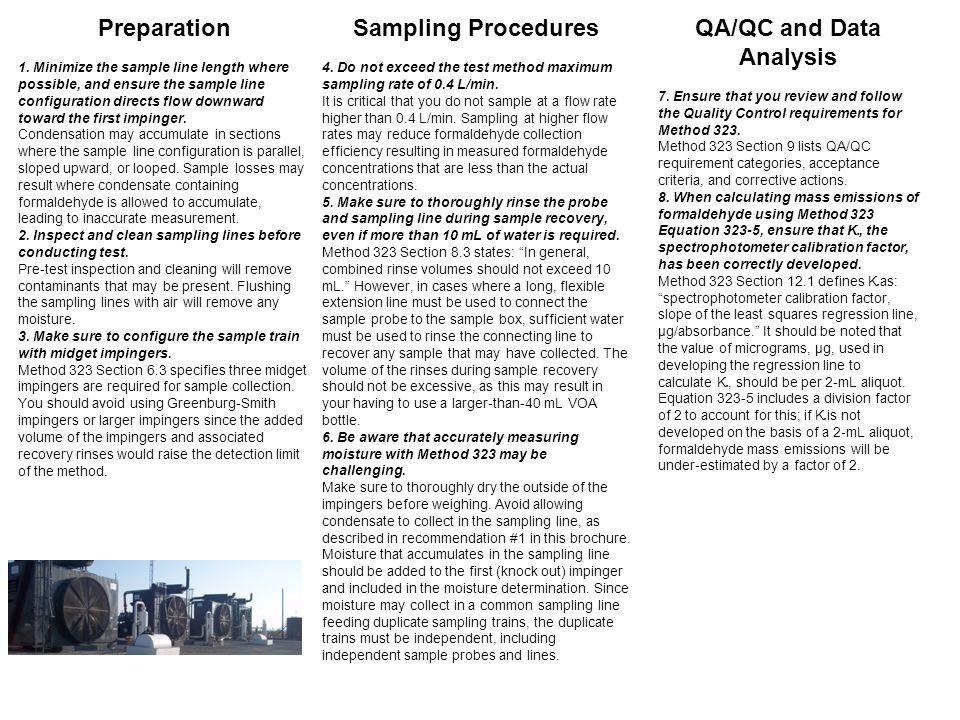 QA/QC and Data Analysis