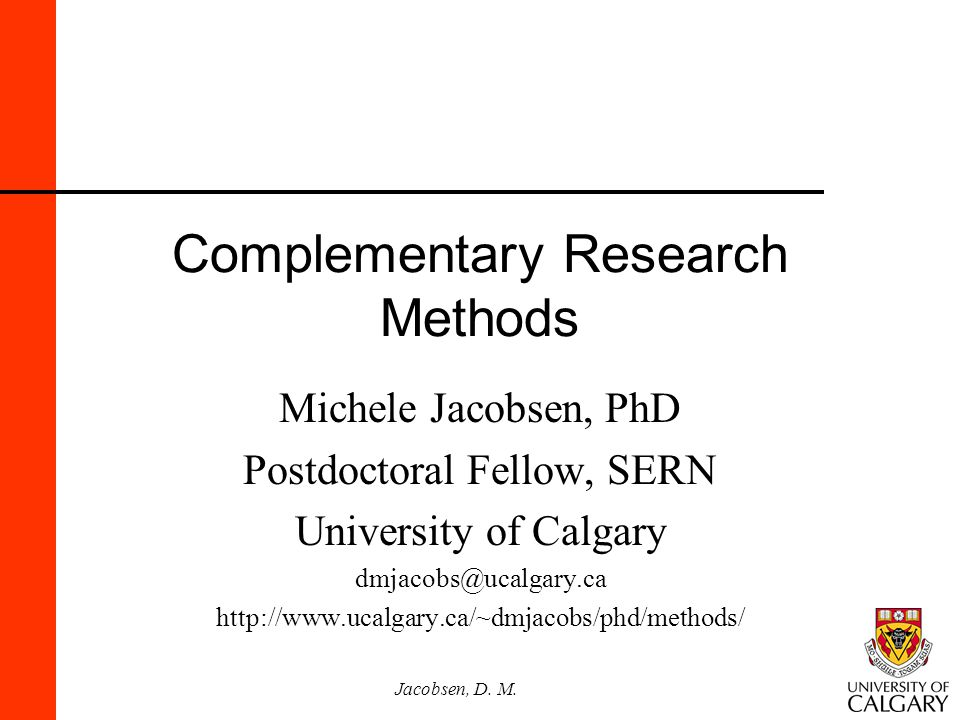 Complementary Research Methods