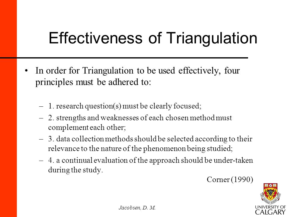 Effectiveness of Triangulation