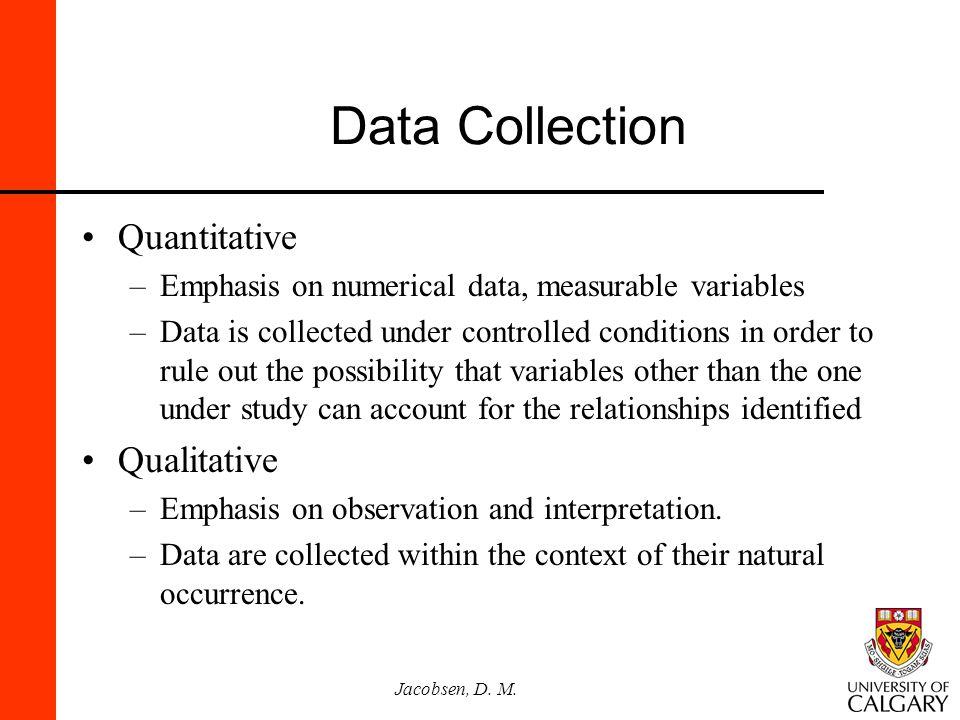 Data Collection Quantitative Qualitative